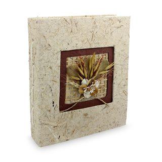 Saa Paper Photo Album, 'Brown Bouquet' (Thailand)