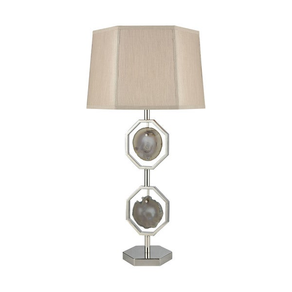 Dimond Lighting Askja Agate Polished Nickel Dual Aria Table Lamp