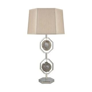 Dimond Lighting Askja Agate Polished Nickel Dual Aria Table Lamp