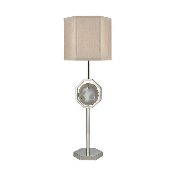 Dimond Lighting Askja Polished Nickel Agate Single Aria Table Lamp