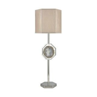 Dimond Lighting Askja Polished Nickel Agate Single Aria Table Lamp
