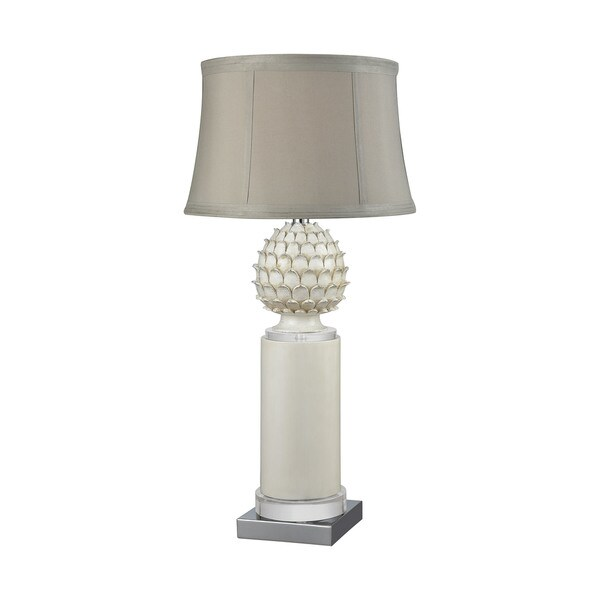 Dimond Lighting Dauphine White Metal and Acrylic Table Lamp