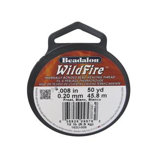 Beadalon Wildfire Bead Thread .20mm 50yd Frost