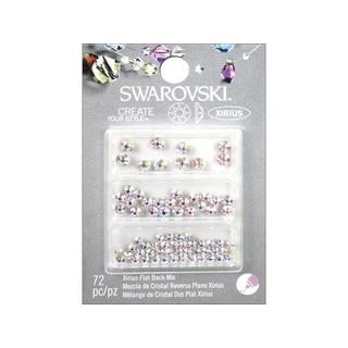 Cousin Swarovski Element Flatback Mix AB 72pc