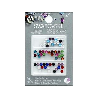 Cousin Swarovski Element Flatback Mix Birthstone 60pc