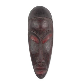 Yoruban Wood African Mask, 'Gelede Mourning' (Ghana)