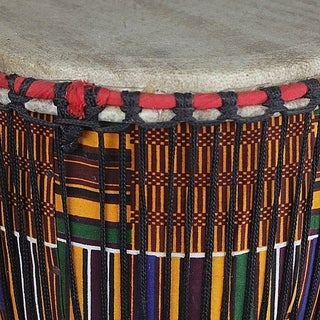 Wood Djembe Drum, 'From the Past' (Ghana)