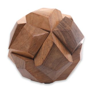 Wood Puzzle, 'Soccer Ball' (Indonesia)