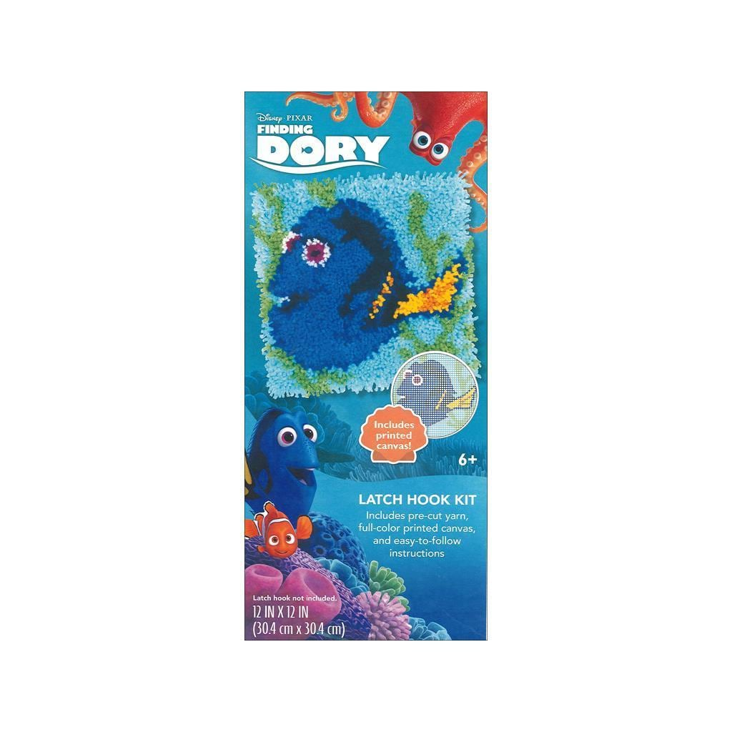 DIMENSIONS Disney Dory 12x12 Latch Hook Kit (Other Knit &...