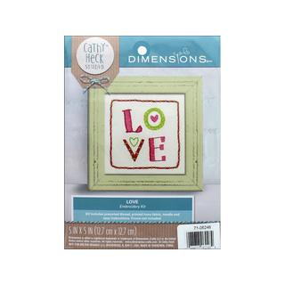 Dimensions Embroidery Kit 5x5 CH Love