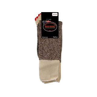 Red Heel Sock 2 Pair/Pkg W/Instructions Med Brown