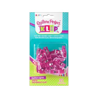 KLIPit Quilters Perfect Klip 25pc Pink