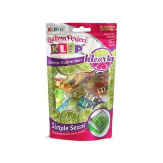 KLIPit Quilters Citrus Perfect Klip Klear Top (Pack of 50)