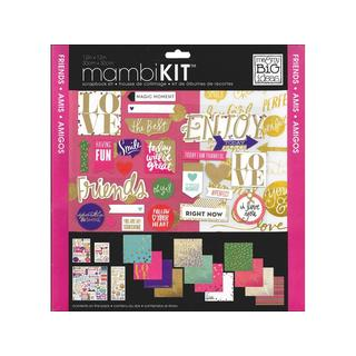 MAMBI Scrapbook Kit 12x12 Colorful Metallics