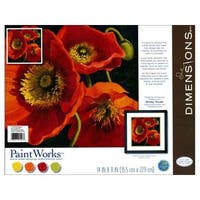 Dimensions Paint By Number 11x11 Red Poppy Trio