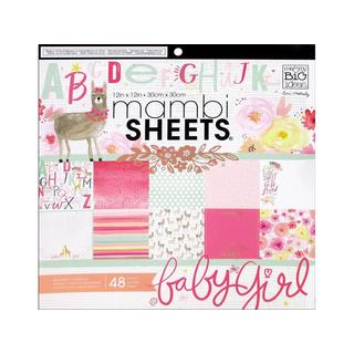 MAMBI Sheets Cdstk Pad 12x12 She's So Lovely