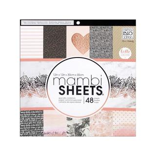 MAMBI Sheets Cdstk Pad 12x12 Rose Gold