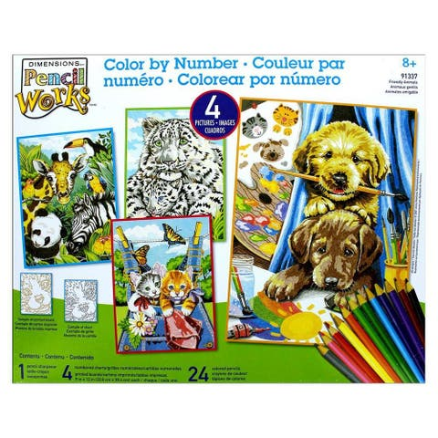 Paintworks Color By Number 9x12 Friendly Animals