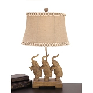 Urban Designs 24 Inch Standing Elephant Trio Table Lamps (Set Of 2)