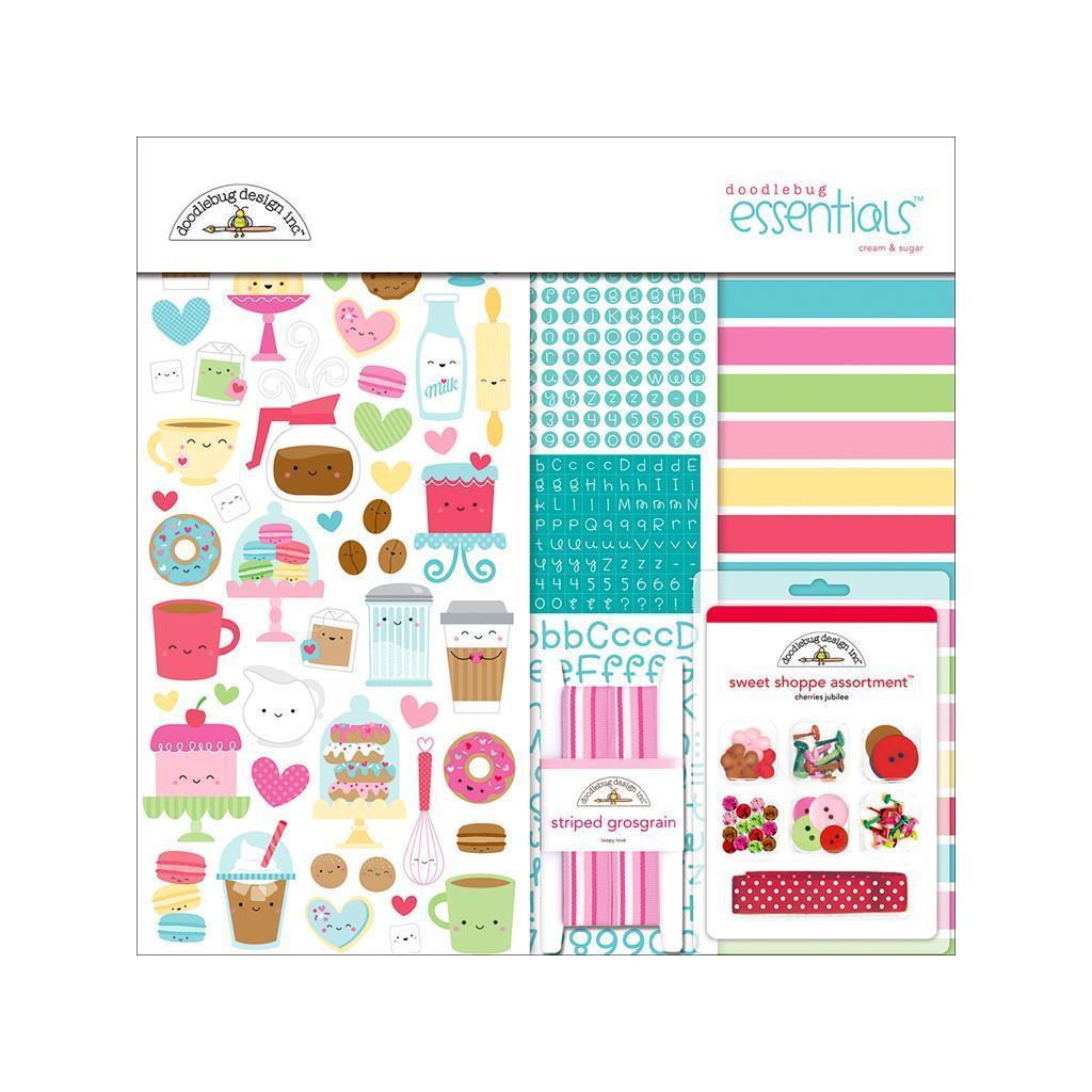 Doodlebug Cream & Sugar Essentials Kit (Cardstock), White...