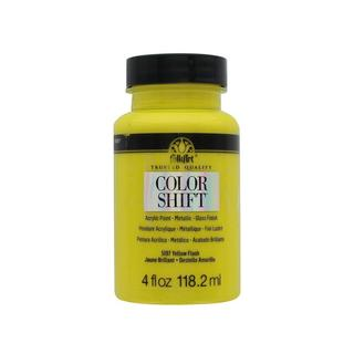 Plaid Folkart Yellow Flash Color Shift 4-ounce Paint
