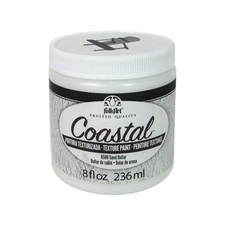 Plaid Folkart Paint Coastal Texture 8oz Sand Dollr