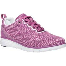 Women's Propet TravelFit Pro Sneaker Purple/White Jacquard Knit