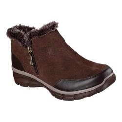 Women's Skechers Relaxed Fit Easy Going Zip It Cold Weather Bootie Chocolate