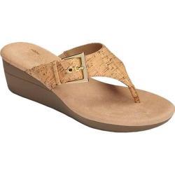 Women's Aerosoles Flower Thong Sandal Cork Combo