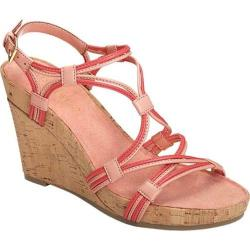 Women's Aerosoles Real Plush Wedge Sandal Coral Combo Leather
