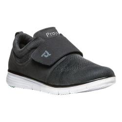Men's Propet TravelFit Wide Strap Sneaker Black Mesh