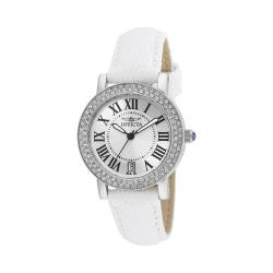 Women's Invicta Angel 21996 White Leather/Silver