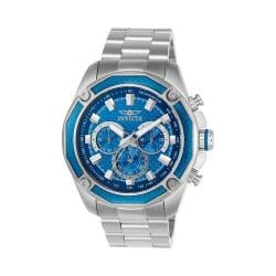 Men's Invicta Aviator 22804 Silver Stainless Steel/Blue