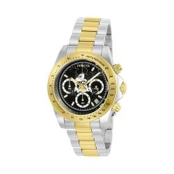 Men's Invicta Disney Limited Edition 22866 Silver/Gold Stainless Steel/Black