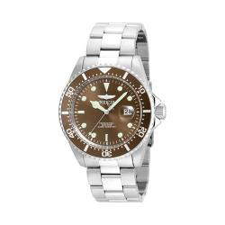 Men's Invicta Pro Diver 22049 Silver Stainless Steel/Brown