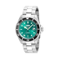 Men's Invicta Pro Diver 22056 Silver Stainless Steel/Greenish Blue