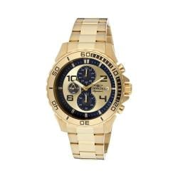 Men's Invicta Signature 7392 Gold Stainless Steel/Blue