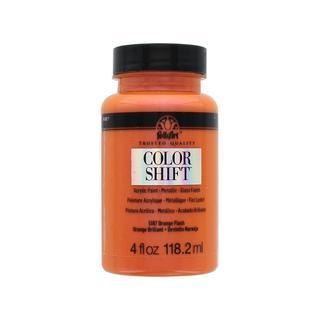 Plaid Folkart Color Shift Paint 4oz Orange Flash