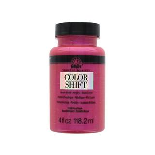 Plaid Folkart Color Shift Paint 4oz Pink Flash