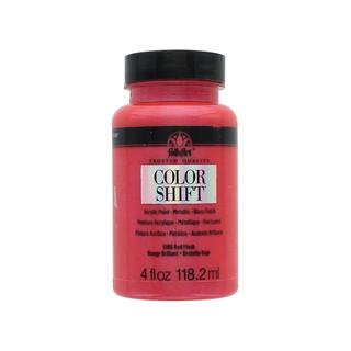 Plaid Folkart Color Shift Paint 4oz Red Flash