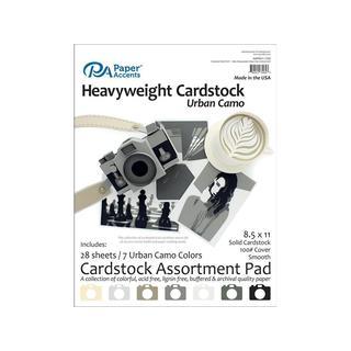 Cardstock Pad 8.5x11 28pc Heavyweight UrbanCamoAst