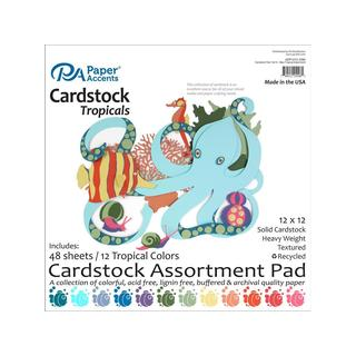 Cardstock Pad 12x12 48pc Tropical Assortment