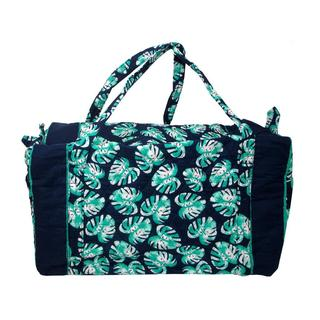 Darice Fashion Bags Palm Blue Fabric Duffel