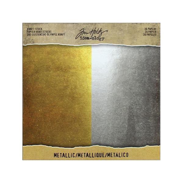 Tim Holtz Idea-ology Kraft Stock Metallic
