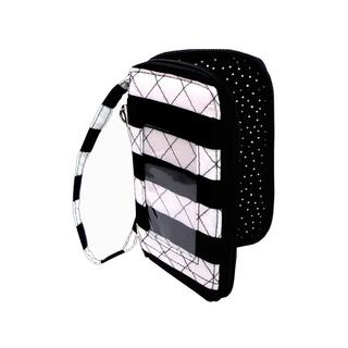Darice Fashion Bags Fabric Cell Pouch Black/White