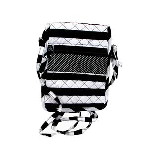 Darice Fashion Bags Fabric Hipster Black/White