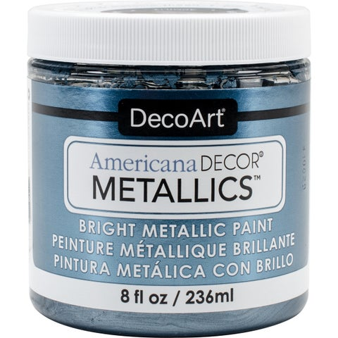 Decoart Americana Decor Metallics Bright 8-ounce Pewter Metallic Paint