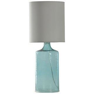 Journee Home 'Seeded Glass'' 21.5-inch Seeded Colored Glass Table Lamp (As Is Item)