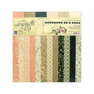 Graphic 45 Collection Portrait of a Lady 12 x 12 Patterned and Solid Paper Pad