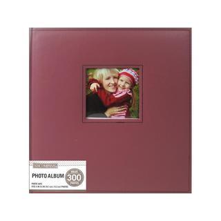 K&Co Photo Album Faux Lthr Stitch 5 Up Burgundy